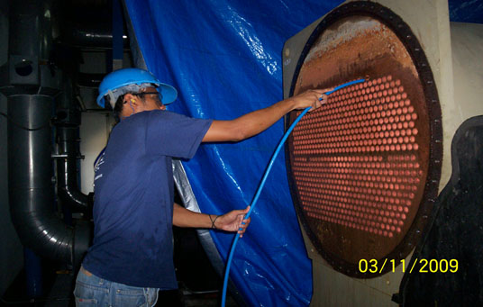 syner chem boiler tank cleaning service